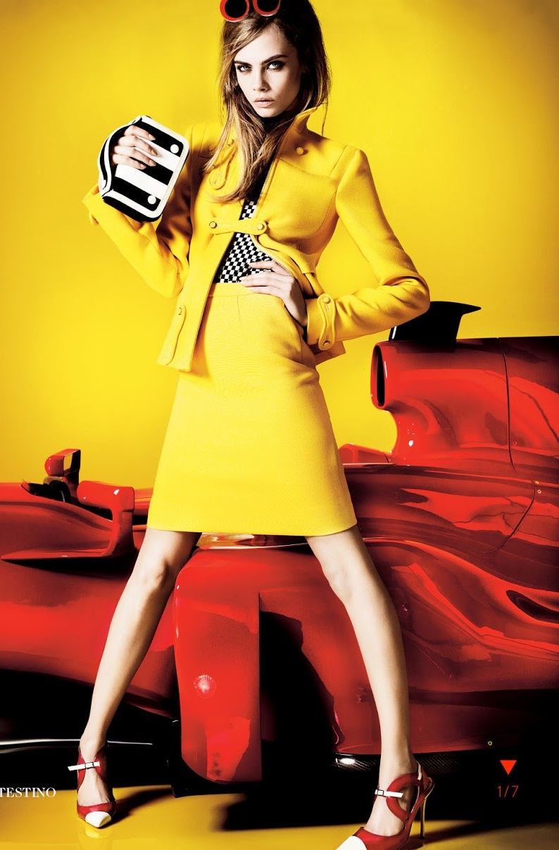 Cara Delevingne by Mario Testino for Vogue UK March 2013 ...