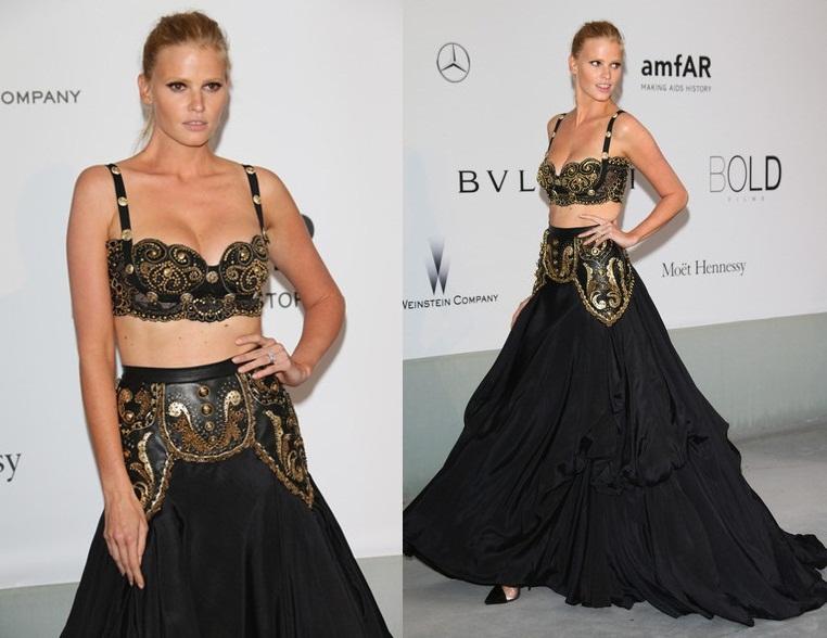 Lara Stone Versace